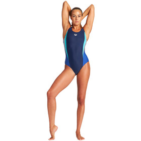arena Threefold V Back One Piece Swimsuit Women navy/royal/martinica